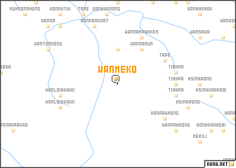 map of Wān Mè-ko