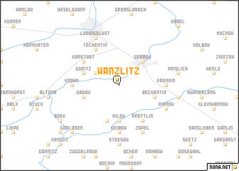 map of Wanzlitz