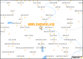 map of Waplewo Wielkie