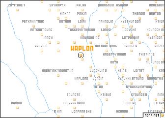 map of Waplon