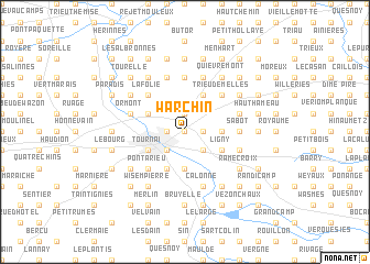 map of Warchin
