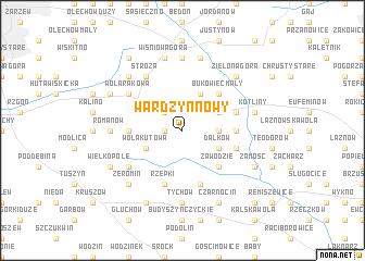 map of Wardzyn Nowy