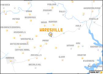 map of Waresville