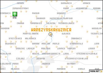 map of Waręzyńska Kuźnica