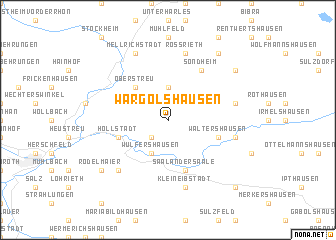 map of Wargolshausen