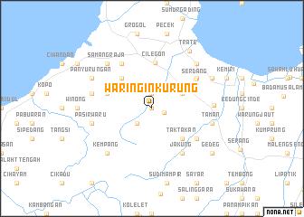 map of Waringinkurung