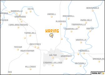 map of Waring