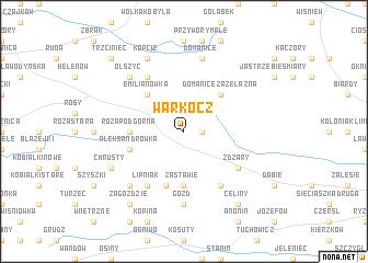 map of Warkocz
