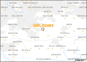 map of Warlingham