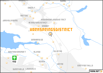 map of Warm Springs District