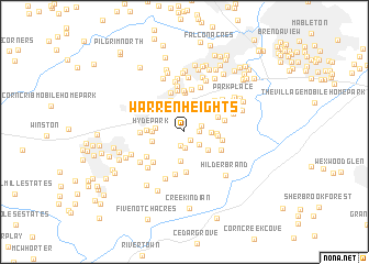 map of Warren Heights
