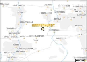 map of Warrenhurst