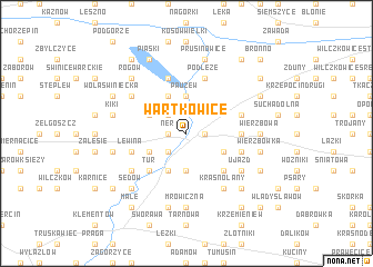 map of Wartkowice