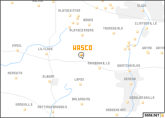 map of Wasco
