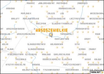 map of Wąsosze Wielkie