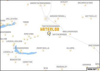 map of Waterloo