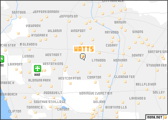 map of Watts