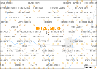 map of Watzelsdorf