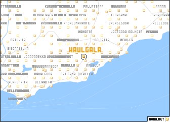 map of Waulgala