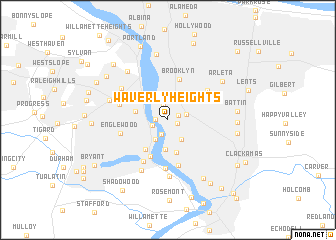 map of Waverly Heights