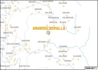 map of Wawang Corrullo