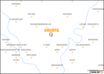 map of Wawang