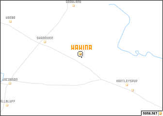 map of Wawina