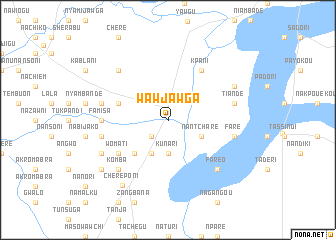 map of Wawjawga