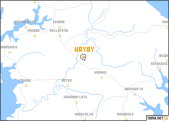 map of Wayby