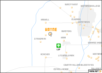 map of Wayne