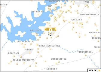 map of Wayne