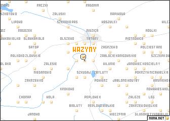 map of Ważyny