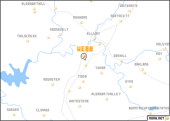 map of Webb