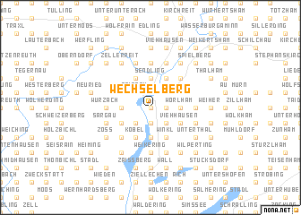 map of Wechselberg