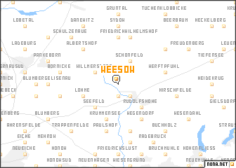 map of Weesow