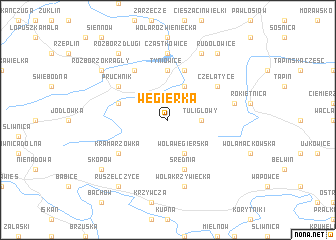 map of Węgierka