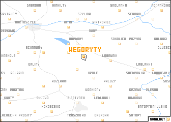 map of Węgoryty