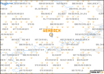 map of Wehbach