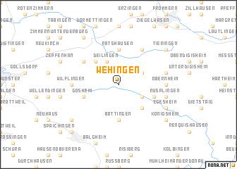 map of Wehingen