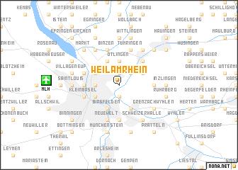 map of Weil am Rhein