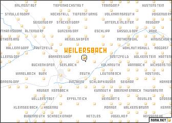 map of Weilersbach