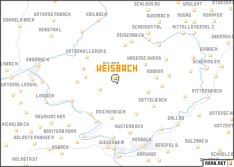 map of Weisbach
