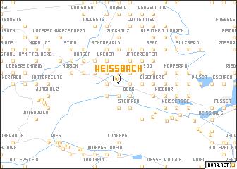 map of Weißbach