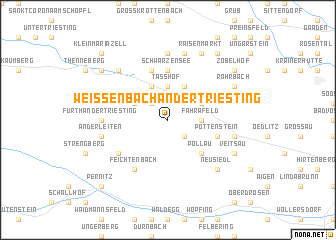 map of Weissenbach an der Triesting