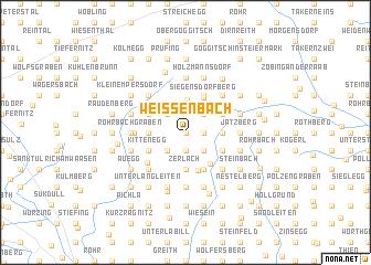 map of Weißenbach