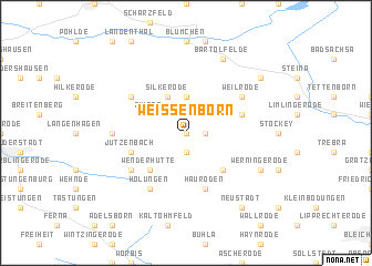 map of Weißenborn