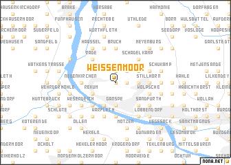 map of Weißenmoor