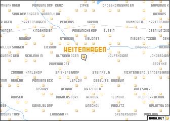 map of Weitenhagen