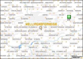 map of Wellinghoferheide
