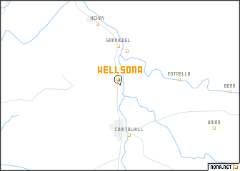map of Wellsona